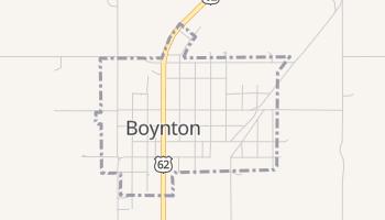 Boynton, Oklahoma map