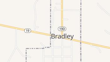 Bradley, Oklahoma map