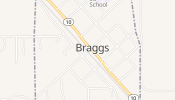 Braggs, Oklahoma map