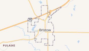 Bristow, Oklahoma map