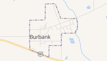Burbank, Oklahoma map
