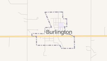 Burlington, Oklahoma map