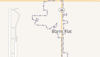 Burns Flat, Oklahoma map