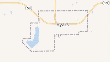 Byars, Oklahoma map