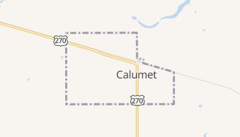 Calumet, Oklahoma map