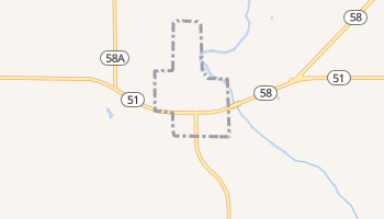 Canton, Oklahoma map