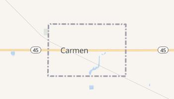 Carmen, Oklahoma map