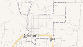 Cement, Oklahoma map