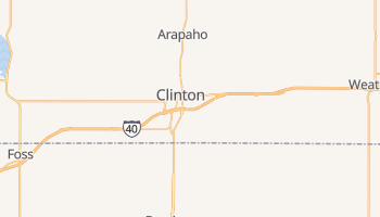 Clinton, Oklahoma map