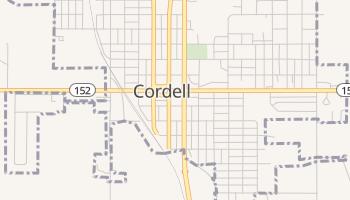 Cordell, Oklahoma map
