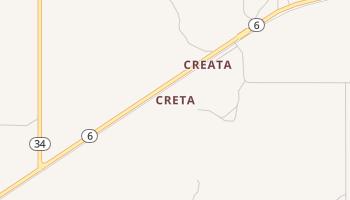 Creta, Oklahoma map
