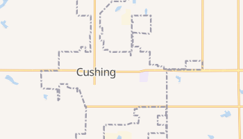 Cushing, Oklahoma map