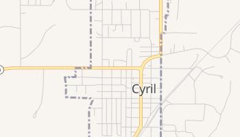 Cyril, Oklahoma map