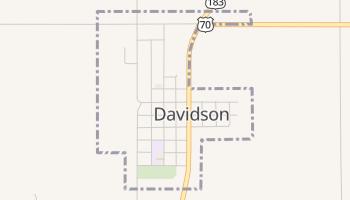 Davidson, Oklahoma map