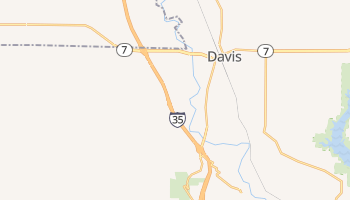 Davis, Oklahoma map