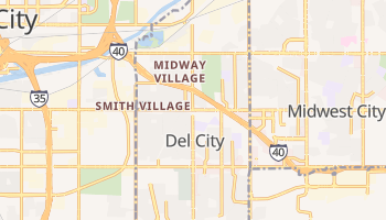Del City, Oklahoma map