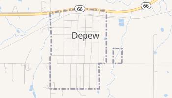 Depew, Oklahoma map