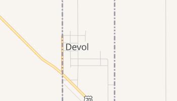 Devol, Oklahoma map