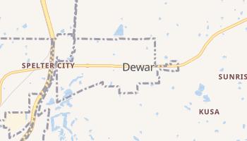 Dewar, Oklahoma map