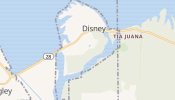 Disney, Oklahoma map