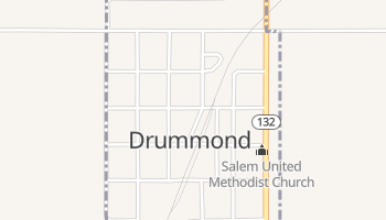 Drummond, Oklahoma map