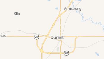 Durant, Oklahoma map