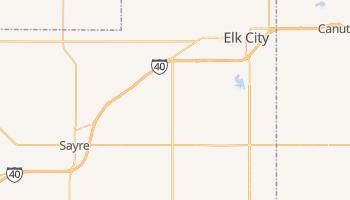 Elk City, Oklahoma map