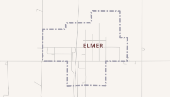 Elmer, Oklahoma map