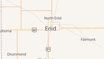 Enid, Oklahoma map