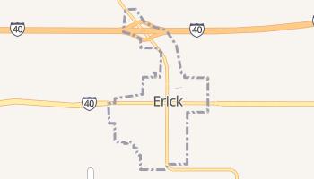 Erick, Oklahoma map