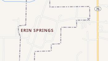 Erin Springs, Oklahoma map
