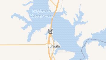 Eufaula, Oklahoma map