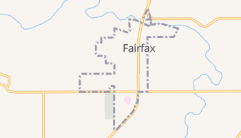 Fairfax, Oklahoma map