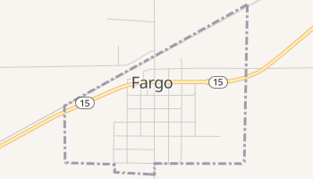 Fargo, Oklahoma map