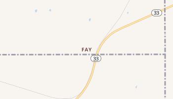 Fay, Oklahoma map