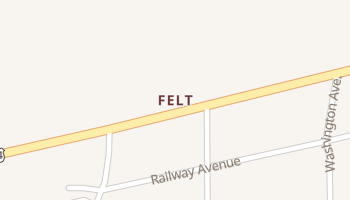 Felt, Oklahoma map