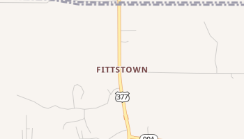 Fittstown, Oklahoma map