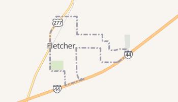 Fletcher, Oklahoma map