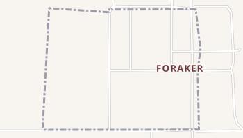 Foraker, Oklahoma map