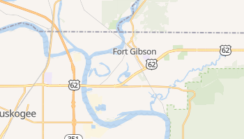 Fort Gibson, Oklahoma map