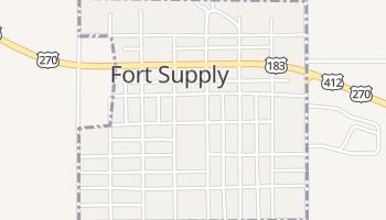 Fort Supply, Oklahoma map