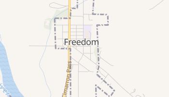Freedom, Oklahoma map