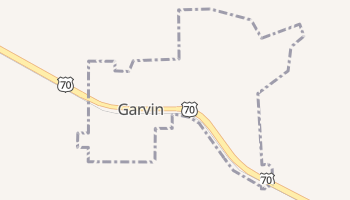 Garvin, Oklahoma map