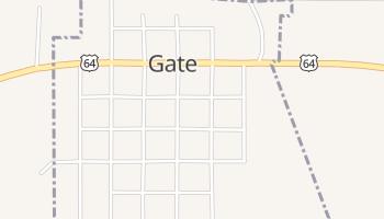 Gate, Oklahoma map