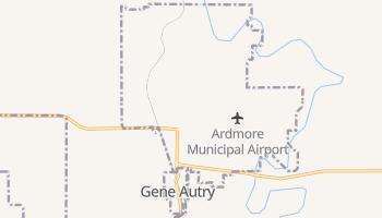 Gene Autry, Oklahoma map