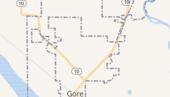 Gore, Oklahoma map