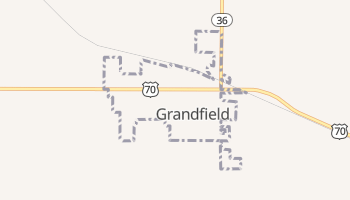 Grandfield, Oklahoma map