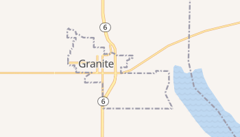 Granite, Oklahoma map