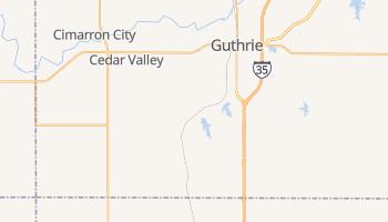 Guthrie, Oklahoma map