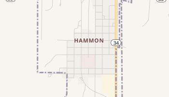 Hammon, Oklahoma map